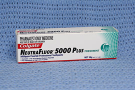 Dental products: Colgate Neutrofluor 5000 Plus